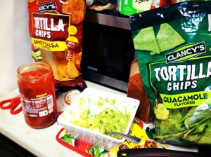 Salsa and guac + salsa chips and guac chips = WIN